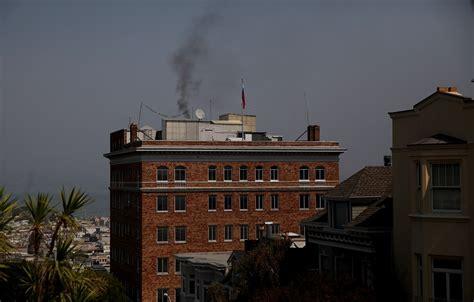 consolato russo a san francisco il mistero fumo nero dal consolato