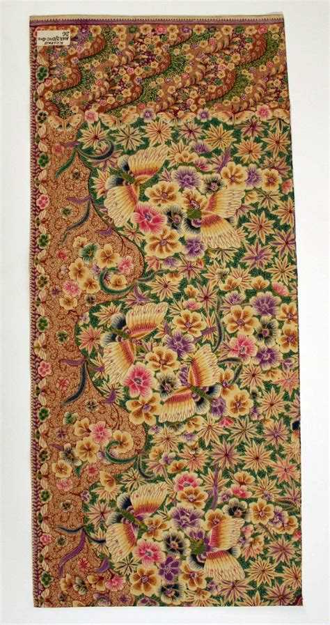 textile pattern indonesia skirt date 1942 45 culture indonesian javanese peoples