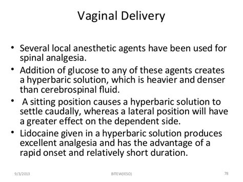 side effects of spinal anesthesia for c section obstetrical anesthesia