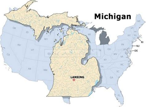 michigan in world map us state maps michigan state map classroom clipart