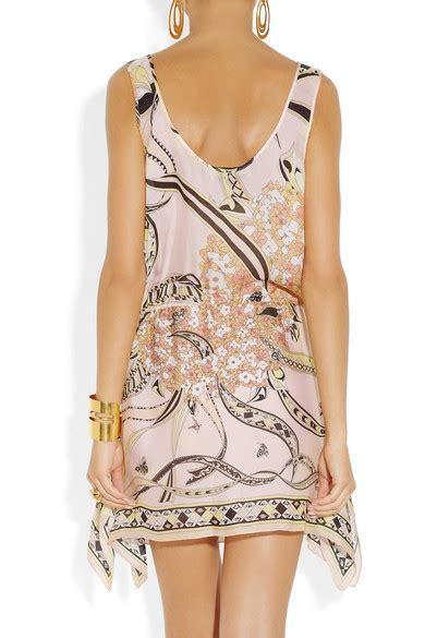 Silk Printed Silk Dress Intl emilio pucci printed silk dress net a porter