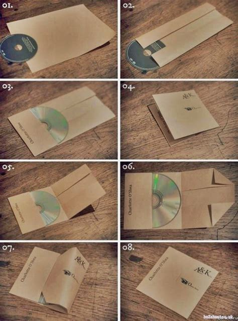 Make Paper Cd Sleeve - how to make a cd cover from a single a4 paper buzzhunt co uk