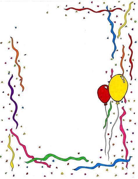 Birthday Celebration Borders Clipart Best Free Birthday Border