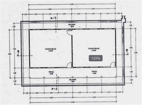 gambar denah ruang kelas tk kumpulan rab dan gambar bangunan sekolah