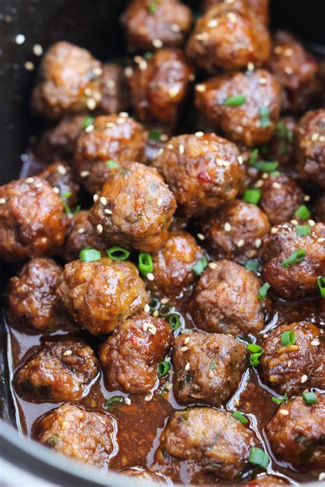 crockpot sesame meatballs little broken