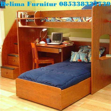 tempat tidur tingkat bawahnya meja belajar ranjang susun tingkat cvdelima furniture toko