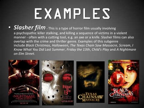 common themes in film horror film forms and conventions