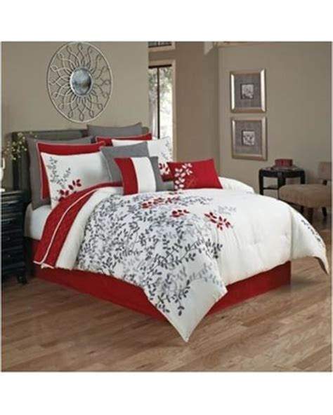 red white comforter incredible winter deals on portola 12 piece comforter set