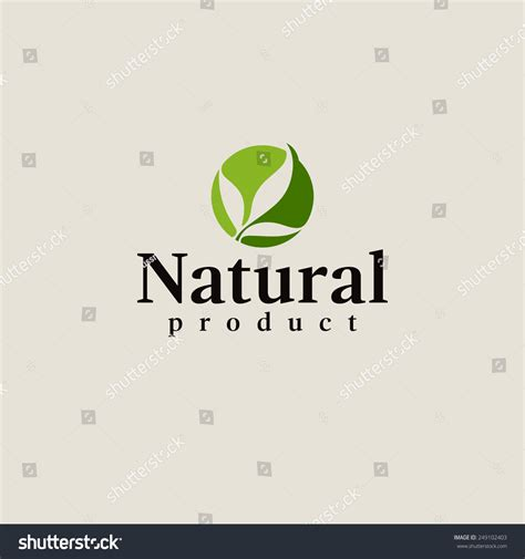 design logo product natural product logo design vector template leaf icon
