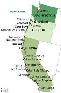 map of oregon and california coast embassy tours cruises
