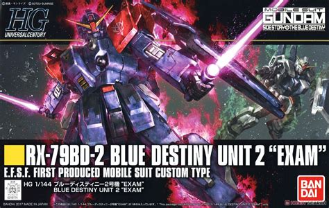 Hongli Hg 1 144 Gundam Blue Destiny Unit 1 208 hguc 1 144 blue destiny unit 2 bandai gundam models kits premium shop