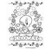 Tweety  Love Coloring Page