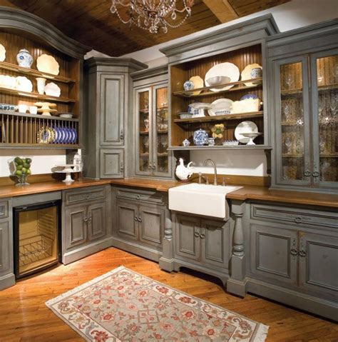 Antique Grey Kitchen Cabinets Vintage Gray Kitchen Cabinets Quicua