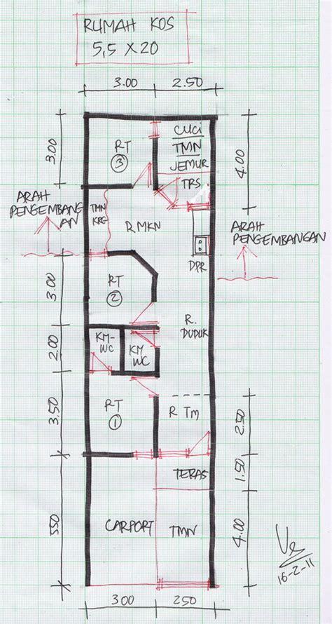 layout rumah lebar 5 meter denah rumah tinggal lebar 5 meter gambar rumah idaman com