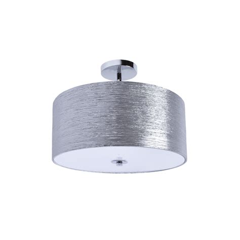 flush mount drum light providence semi flush mount silver minimalist ceiling
