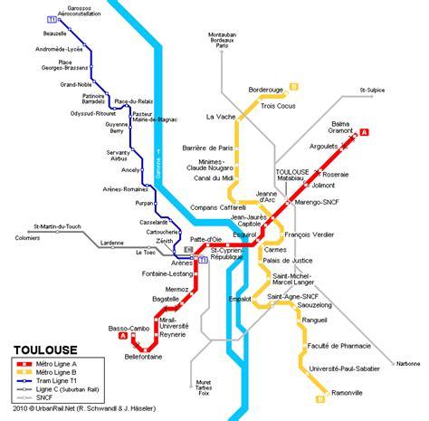 Toulouse   carte du métro   Carte détaillée du métropolitain de Toulouse (France) pour télécharger