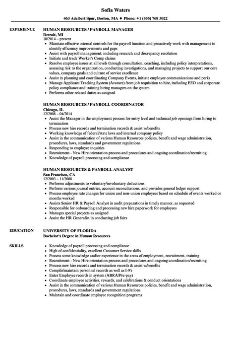 Mba Advisor Payroll by Outstanding Hr Resume Format Pdf Gallery Resume Template