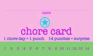 free printable punch card template free printable chore punch cards