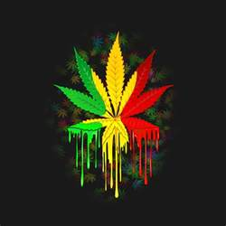 marijuana leaf rasta colors paint cool