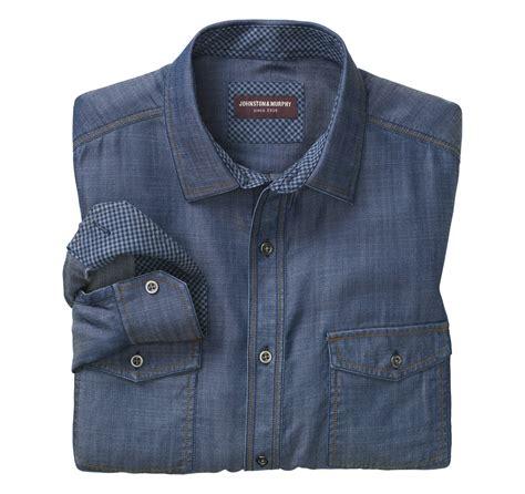 Pocket Denim Shirt pocket denim shirt johnston murphy