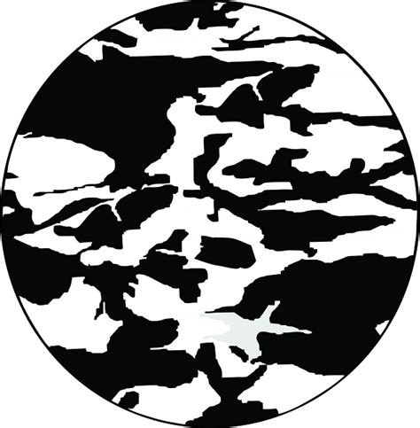 Team White Camo camouflage tire cover on black vinyl black and white