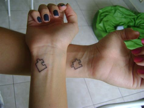 puzzle couple tattoo friendship tattoos designs ideas and meaning tattoos