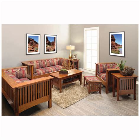 mission living room mission ottoman home wood furniture