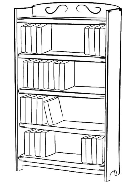 How to Draw Bookshelf Coloring Pages | Coloring pages