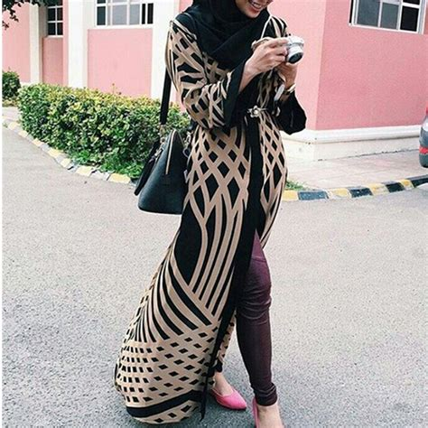 Dress Naam Arab by Fabricage Moderne Kimono Lange Abaya Dubai Muslimah Kaftan