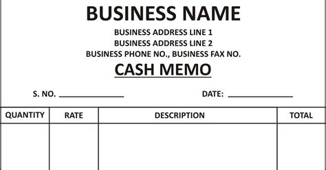 Home Design Guys by General Knowledge Library Cash Memo Template