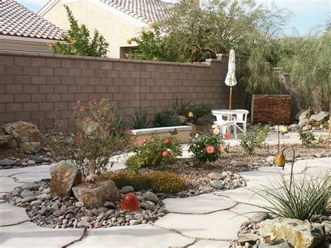 Desert Backyard Landscaping Ideas Desert Landscape Ideas For Backyards Arizona Living Backyard Waterfalls In Water