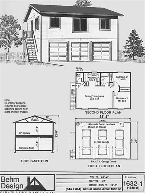 garage layout plans wooden build your own garage design pdf plans