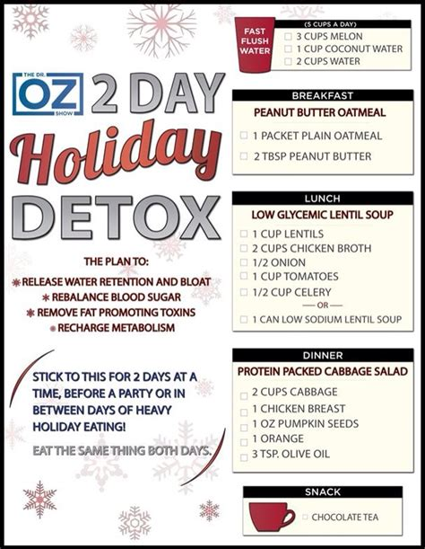 Doctor Oz Detox Plan by Detox Plan The Dr Oz Show Follow This Board For