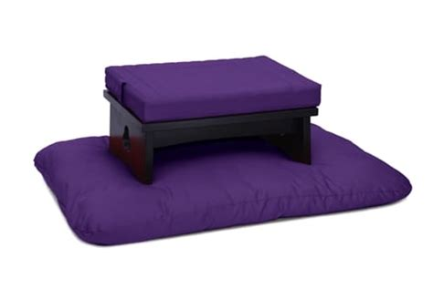 zen meditation bench low cloud meditation bench set zen black samadhi cushions