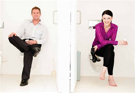 girl in mens bathroom men and women s bathroom hygiene habits revealed and the