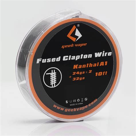 Premium Clapton Kanthal A1 24 32 Ga High Quality Rohs authentic geekvape kanthal a1 fused clapton 0 2 ohm 3m heating wire