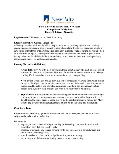 Narrative Essay On Education by Essay 2 Literacy Narrative