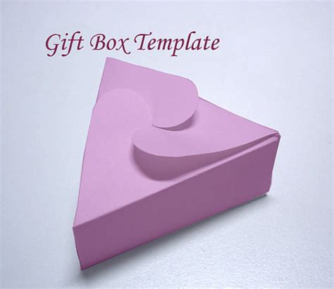 free templates for jewellery boxes template printable triangular jewelry gift box