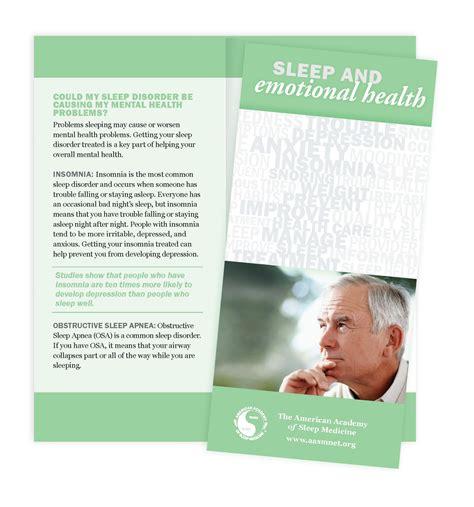 templates brochure mental health sleep emotional health patient education brochures