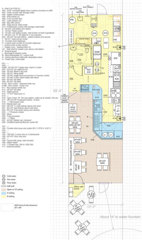 quick floor plan designing building and opening vietnamese pho restaurants