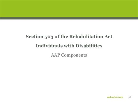 section 503 rehabilitation act affirmative action basics affirmative action compliance