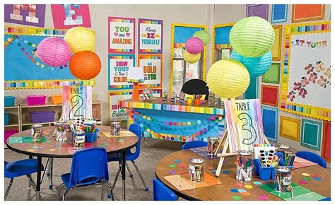 paint chip classroom decor