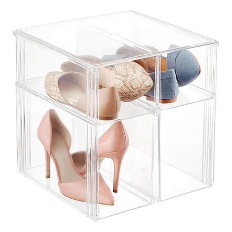 storage bins for shoes premium stackable shoe bin the container store