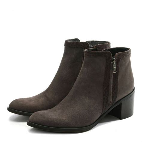 Trim Boots brown suede reptile trim ankle boots brandalley