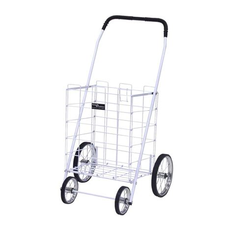 easy wheels mitey shopping cart in white 777wh the home