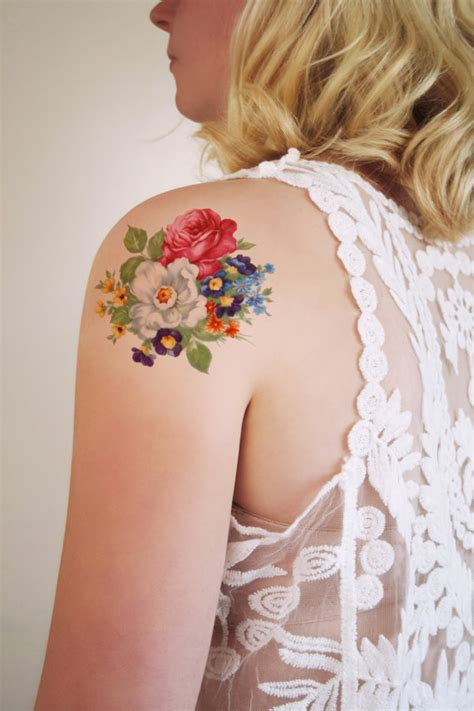 flora tattoo care reviews round floral temporary tattoo bohemian temporary by