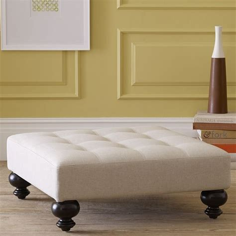 west elm tufted ottoman new essex tufted ottoman modern footstools and