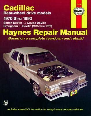 small engine maintenance and repair 1996 cadillac seville engine control cadillac rear wheel drive gasoline engine haynes repair manual 1970 1993 hay21030