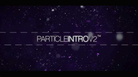 after effects free intro templates cs5 free particle v2 intro template after effects cs5 youtube