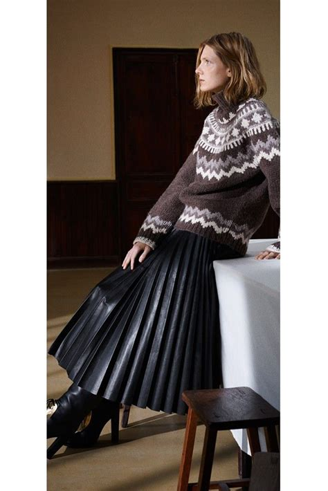 pleated leather skirt pre fall 2013